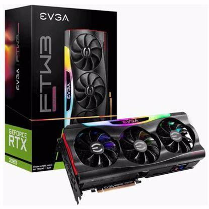 Fotografija izdelka EVGA GeForce RTX 3080 FTW3 ULTRA Gaming 10GB GDDR6X (10G-P5-3897-KR) ARGB gaming grafična kartica