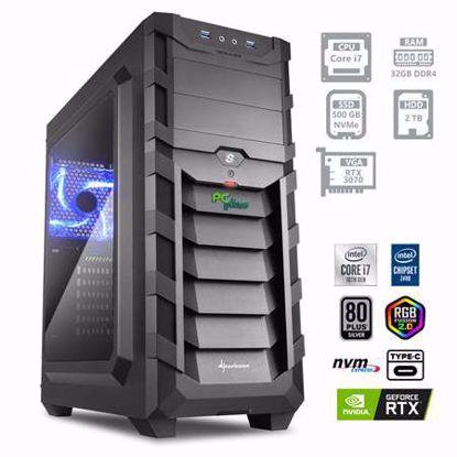 Fotografija izdelka PCPLUS Dream machine i7-10700 32GB 500GB NVMe SSD 2TB HDD GeForce RTX 3070 8GB RGB W10
