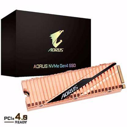 Fotografija izdelka GIGABYTE AORUS Gen4 500GB M.2 PCIe4.0 NVMe1.3 bakreni (GP-ASM2NE6500GTTD) SSD