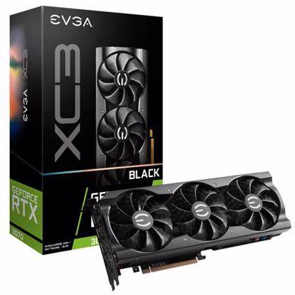 Fotografija izdelka EVGA GeForce RTX 3070 XC3 BLACK GAMING 8GB GDDR6 iCX3 Cooling (08G-P5-3751-KR) ARGB gaming grafična kartica