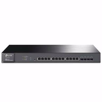 Fotografija izdelka TP-LINK JetStream T1700X-16TS 12-port 10GBase-T 4x10G SFP+ Smart Switch mrežno stikalo