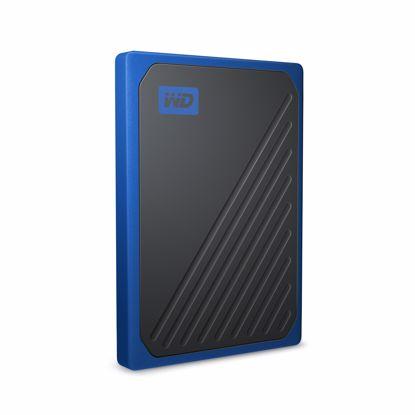 Fotografija izdelka WD 500GB SSD My Passport Go, USB 3.0, moder