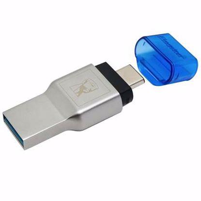 Fotografija izdelka KINGSTON FCR-ML3C USB 3.1 MobileLite Duo 3C MicroSD SDHC SDXC Type-C prenosni čitalec kartic