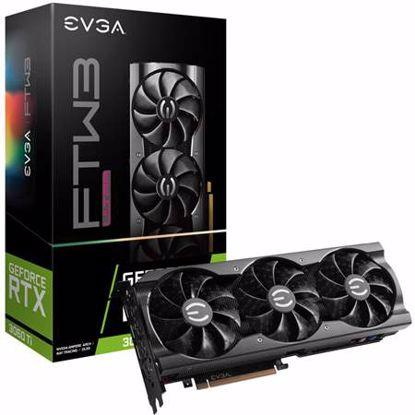 Fotografija izdelka EVGA GeForce RTX 3060 Ti FTW3 ULTRA GAMING 8GB GDDR6 iCX3 Cooling (08G-P5-3667-KR) ARGB LED gaming grafična kartica