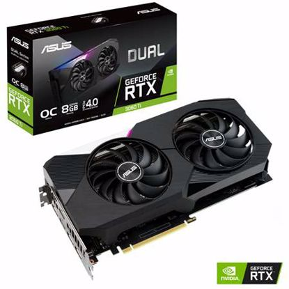 Fotografija izdelka ASUS Dual GeForce RTX 3060 Ti OC Edition 8GB GDDR6 (DUAL-RTX3060TI-O8G) gaming grafična kartica