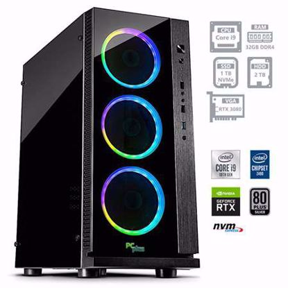 Fotografija izdelka PCPLUS Dream machine i9-10900F 32GB 1TB NVMe SSD 2TB HDD GeForce RTX 3080 10GB RGB W10