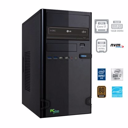 Fotografija izdelka PCPLUS e-office i7-10700 16GB 512GB NVMe SSD DOS