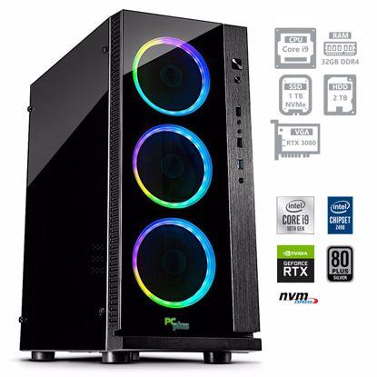 Fotografija izdelka PCPLUS Dream machine i9-10900F 32GB 1TB NVMe SSD 2TB HDD GeForce RTX 3080 10GB RGB DOS