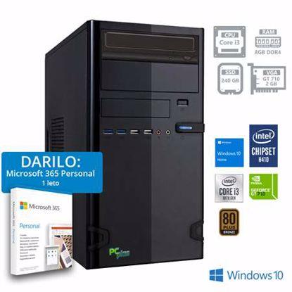 Fotografija izdelka PCPLUS Storm i3-10100F 8GB 240GB SATA GT 710 2GB Windows 10 Home + darilo: 1 leto Microsoft 365 Personal