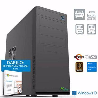 Fotografija izdelka PCPLUS E-MACHINE R7-4750G 8GB 512GB 1TB Windows 10 Home + darilo: 1 leto Microsoft 365 Personal