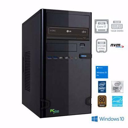 Fotografija izdelka PCPLUS e-office i7-10700 16GB 512GB NVMe SSD Windows 10 Pro namizni računalnik