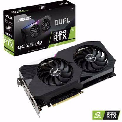 Fotografija izdelka ASUS GeForce RTX 3060 Ti Dual OC 8GB GDDR6 (90YV0G1J-M0NA00) LHR gaming grafična kartica