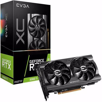 Fotografija izdelka EVGA GeForce RTX 3060 Ti XC 8GB GDDR6 (08G-P5-3663-KL) LHR gaming grafična kartica