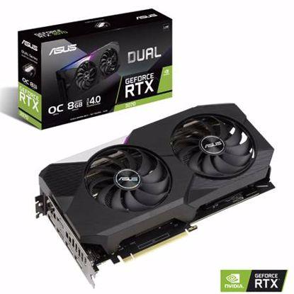 Fotografija izdelka ASUS GeForce RTX 3070 V2 OC 8GB GDDR6 (90YV0FQC-M0NA00) LHR gaming grafična kartica
