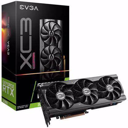 Fotografija izdelka EVGA GeForce RTX 3080 XC3 ULTRA Gaming 10GB GDDR6X (10G-P5-3885-KL) LHR ARGB gaming grafična kartica